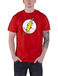 The Flash T Shirt DC Comics Cracked Lightning Logo Vintage offiziell Herren Nue
