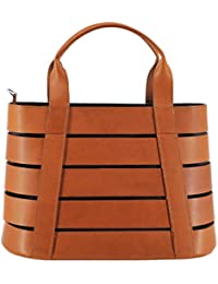 Savebag - Sac porté main OUD - Cuir de vachette Pleine Fleur + toile- 34 x 14,5 x 22,5 cm