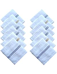 Indiacrafts Cotton Handkerchiefs for Men Set of 12 Piece