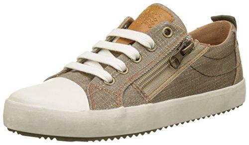 Geox Jungen J Alonisso  D Low-top Sneaker, Beige (Beige/Military), 33 EU