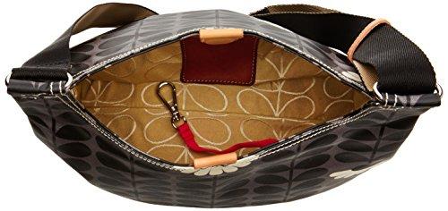 Orla Kiely - Mini Sling Bag, Borsa a tracolla Donna Black (Jet)