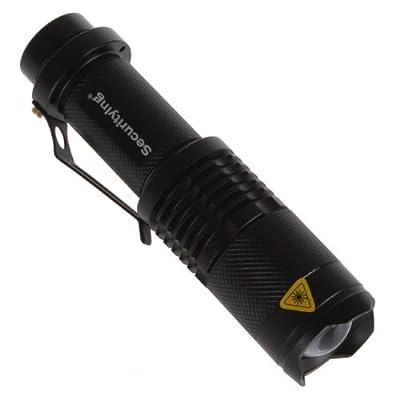 SecurityIng® 3 Modi Zoom Einstellbare XM-L T6 LED 1000Lm Wasserdichte Beleuchtung Lampe Licht Lechte Handlampe Taschenlampe von EPATHDIRECT - Outdoor Shop