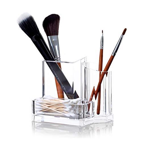 Boîte de Rangement D'organisateur de Maquillage Acrylique, Coffret À Bijoux de Cas de Cosmétiques de Comptoir pour Pinceaux, Rouge À Lèvres, Fond de Teint, Accessoires