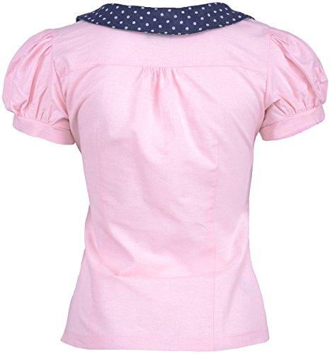 Küstenluder RUBIE Vintage Polka Dots Collar Puff Sleeve Shirt BLUSE Rockabilly -