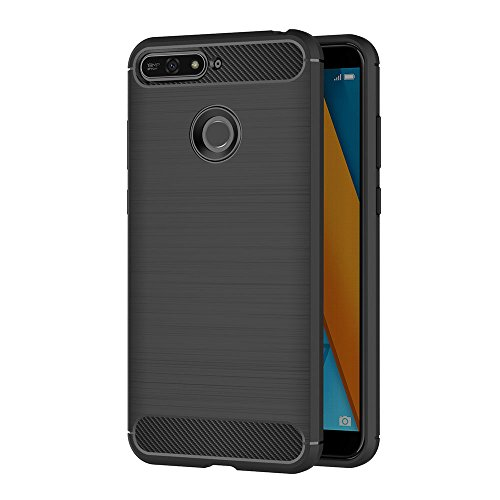 migliori scarpe da ginnastica 91290 51717 AICEK Cover Honor 7A, Nero Custodia Huawei Honor 7A Silicone Molle Black  Cover per Honor 7A Soft TPU Case (5.7 Pollici)