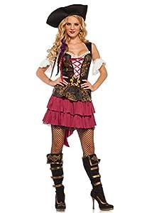 Wonderland W5035301101 Pirate Beauty - Disfraz para mujer, multicolor, talla S (EUR34-36)