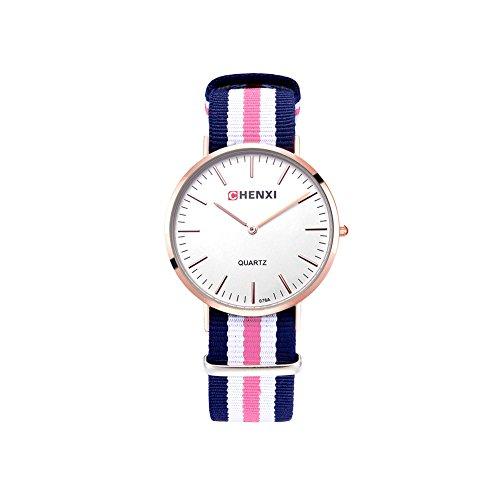 Herren Damen Unisex Nylonband Armbanduhr Herrenuhr Damenuhr Schlicht Klassik Mode Elegant Sportlich Frauen Teenager Sportuhr Analoge Quarz Uhr Geschenk
