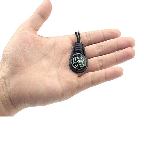 Wenwenzui-ES Kleiner Kompass mit Seil Anhänger Mini Kompass - Es Mini-anhänger