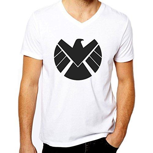 Agents Of S.H.I.E.L.D. Shield Logo Large Uomini V-Neck T-Shirt