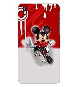 PrintDhaba Running Mickey D-3512 Back Case Cover for HTC DESIRE 816 (Multi-Coloured)