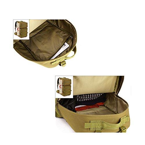 YAAGLE 55 L outdoor Rucksack Gepäck militärisch Bersteigen Taschen Reisetasche Combo Pack wasserdicht Schultertasche-Tarnung 1 Tarnung 1