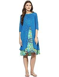 Mine4nine Women's Geometric print dress Layered Maternity Dress