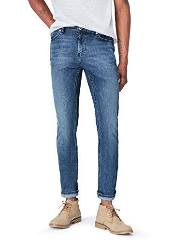 FIND Herren Schmal geschnittene Jeans, Blau (Light Wash), W28/L32 (Herstellergröße: 28)
