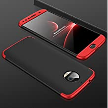 "Moto G5S Plus Funda , CHIHENG 3-en-1 PC 360° Protectora Todo incluido Anti-Scratch Funda dura Carcasa Tapa caso Case Cover para Motorola Moto G5S Plus 5.5"" Negro+Rojo"