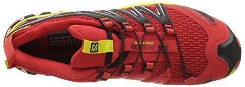 Salomon XA Pro 3D, Chaussures de randonnée homme Rouge (Fiery Red/sulphur Spring/black)