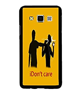 Fuson Premium I Don`T Care Metal Printed with Hard Plastic Back Case Cover for Samsung Galaxy A3