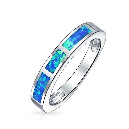 Rosa Opal Inlay Ebnen Cubic Zirconia Solitär Ring Für Damen 925 Sterling Silber Oktober Geburtsstein Erstellt
