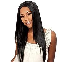 شعر مستعار بشري بشري أمامي مفرود باللون الأسود مع دانتيل أمامي بدون صمغ، شعر ريمي برازيلي برازيلي