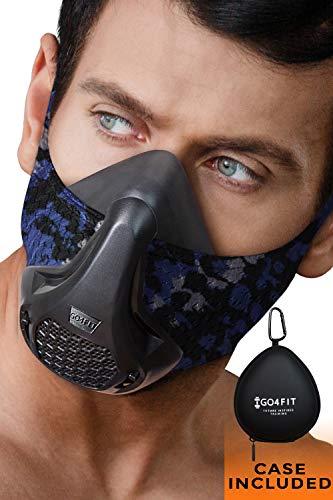 GO4FIT Trainingsmaske - Workout Maske,Elevation Maske,Simulate High Hötitude Training für Laufen, Fitnessstudio, Atmung, Cardio, Fitness, Ausdauermaske, Large