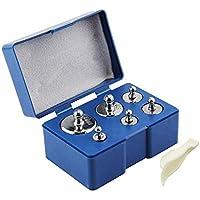 Ashnna - Juego de pesas de calibración con pinzas para balanza (5 g, 10 g, 2 x 20 g, 50 g, 100 g, 6 unidades)