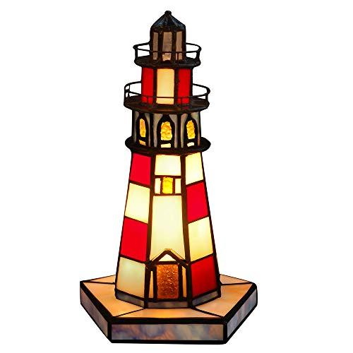 Leuchtturm Nachttischlampen tischlampe glas im tiffany-stil handwerk LH12044