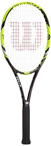 Wilson Damen/Herren-Tennisschläger, All Courter, Erfahrene Spieler und Profis, Steam 99S, Größe 3, schwarz/gelb, WRT73070U3