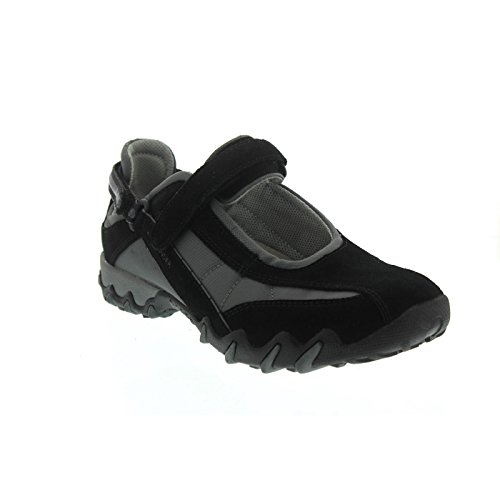 Allrounder by Mephisto Niro, Chaussures Multisport Outdoor Femme Noir (Black C.suede 1/ Fabric 52)