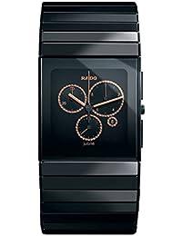 Rado Ceramica r21714722Gents diamantes de cerámica negro cerámica caso FECHA reloj
