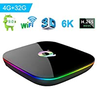 Android 9.0 TV Box, Q Plus Smart Android Box co...