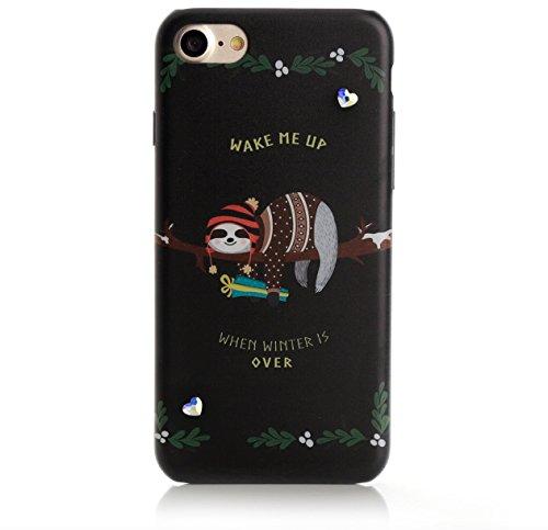 Arktis iPhone 8 / 7 Luxus Soft Tpu Silikon Case Schutzhülle Hülle Strass Strassteine Unicorn Dream Einhorn Einhörner Hangover