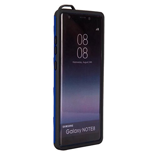 EKINHUI Case Cover Ultra Thin Slim Dual Layer PC + Soft TPU Back Schutzhülle Fall [Shockproof] mit Kickstand für Samsung Galaxy Note 8 ( Color : Gold ) Blue