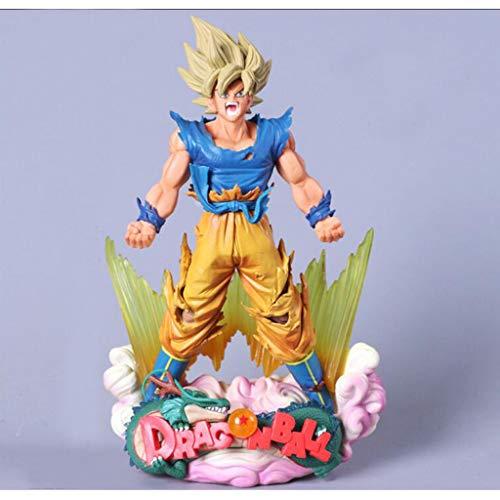 JPVGIA Marvel Estatua Dragon Ball Series - Super Saiyan Goku Anime Personaje de Juguete Arte de 24 cm Estatua Modelo, PVC Decoración del hogar Oficios de Oficina, Coleccionables con