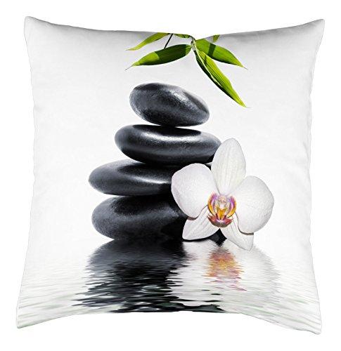 Home Fashion Kissenhülle Digitaldruck, Samt, grün, 1 x 40 x 40 cm