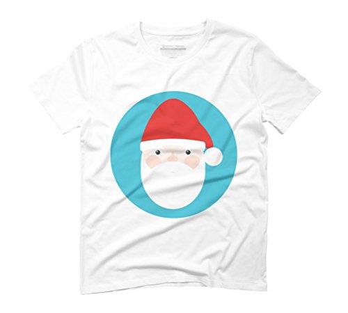 Santa Men's Graphic T-Shirt - Design By Humans White