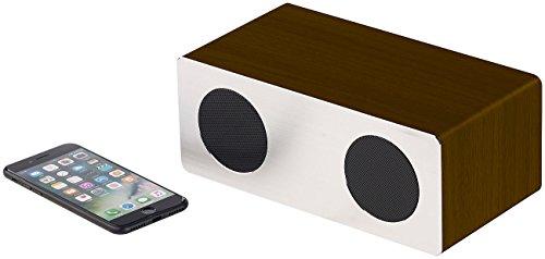 auvisio PC Lautsprecher BT: Stereo-Lautsprecher, Bluetooth, Holzgehäuse, Alu-Front, 20 W,