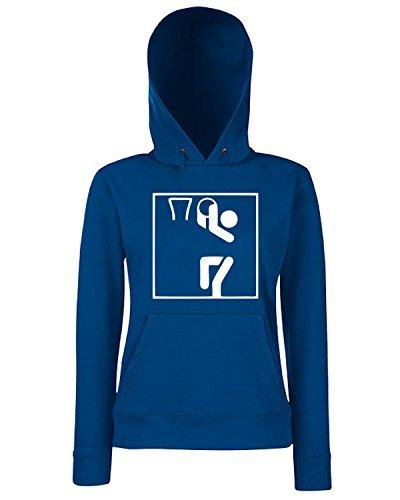 T-Shirtshock - Sweats a capuche Femme OLDENG00307 basketball sports pictogram Bleu Navy