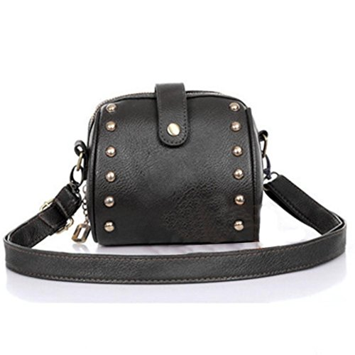 - 41ddaNfurVL - Koly Women's Bag Faux Leather Shoulder Mini Purse Camera Bag Rivets Small Bags