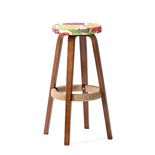 Home bequemer Klappstuhl Hocker Holz Sitz Runder Stuhl Hohe Hocker Bar Küche Frühstück Hocker Nordic Einfache Retro Stil Bunte chair and stool ( Farbe : #2 )