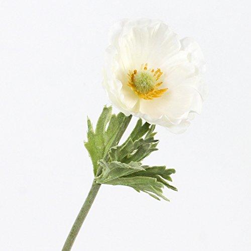 artplants Set 6 x Künstliche Anemone, Creme-weiß, 30 cm, Ø 7 cm – Kunstblume/Dekoblume