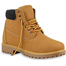 Damen Herren Unisex | Worker Boots Profilsohle | Outdoor Stiefeletten | Warm Gefütterte Schuhe | Camouflage Denim Übergrößen | Flandell®