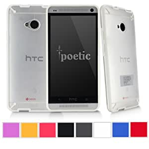 Poetic Atmosphere Case for HTC One M7 Clear/White (3 Year Manufacturer Warranty From Poetic)