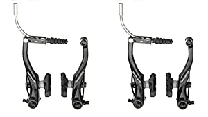 Shimano Alivio T4000 Black FRONT & REAR Bike MTB Hybrid V Brake Set in Black