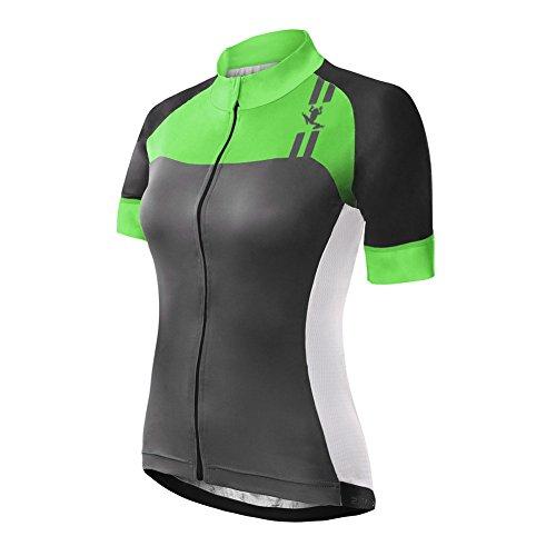 Uglyfrog Sommer Damen Lady Kurzarm Radtrikot Fahrradtrikot Fahrradbekleidung für Männer mit Elastische Atmungsaktive Schnell Trocknen Stoff HDZD11