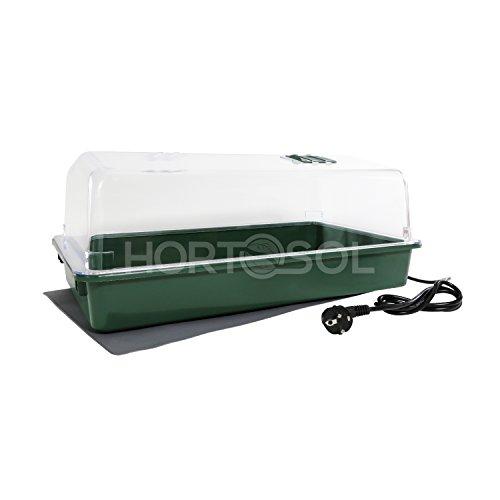 HORTOSOL 30w XXL grande mini serra Riscaldata plastica rigida 56x32x21 cm