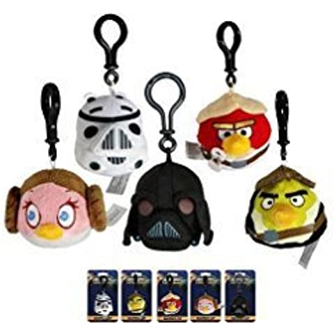 Angry Bird Star Wars Plush Keychain Clip set of 5 by Unknown