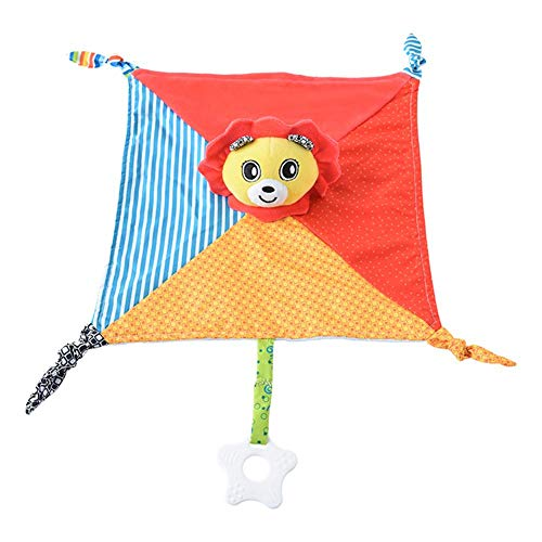 Pinfect 29x29cm Baby Infant Velvet Appease Towel Soft Teether Sleeping Toys (Lion)
