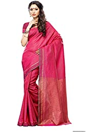 Mimosa Women's Raw Silk Saree With Blouse Piece (Prs10-Rani,Rani,Free Size)