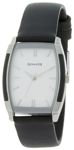 Sonata Classic Analog White Dial Men's Watch - NF7080SL01 image