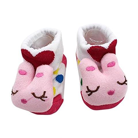 Baby Socken/ Transer® Unisex Mädchen/Jungen Kleinkind Neugeborene Kinder Dimensional Design Karikatur Schuhe Stiefel für 0-12 Monate 15 Farben (Gestreifte Verbandsmull)