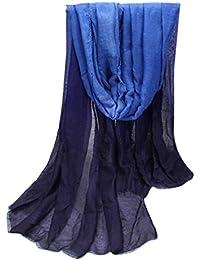 webla Ladies Gradiente Color Largo Wrap chal Pashmina robó bufanda bufandas para las mujeres
